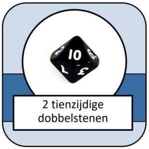2 tienzijdige dobbelstenen