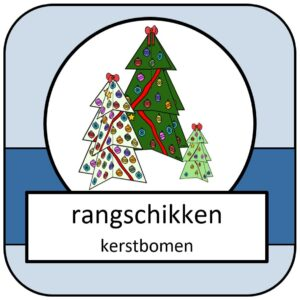 rangschikken kerstbomen